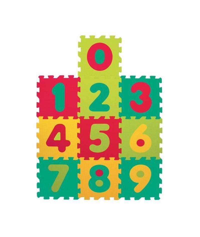 Alfombra de piezas letras y numeros para bebé Ludi
