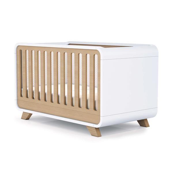 Cuna  cama  escritorio 70×140 Premium Kurve Alondra