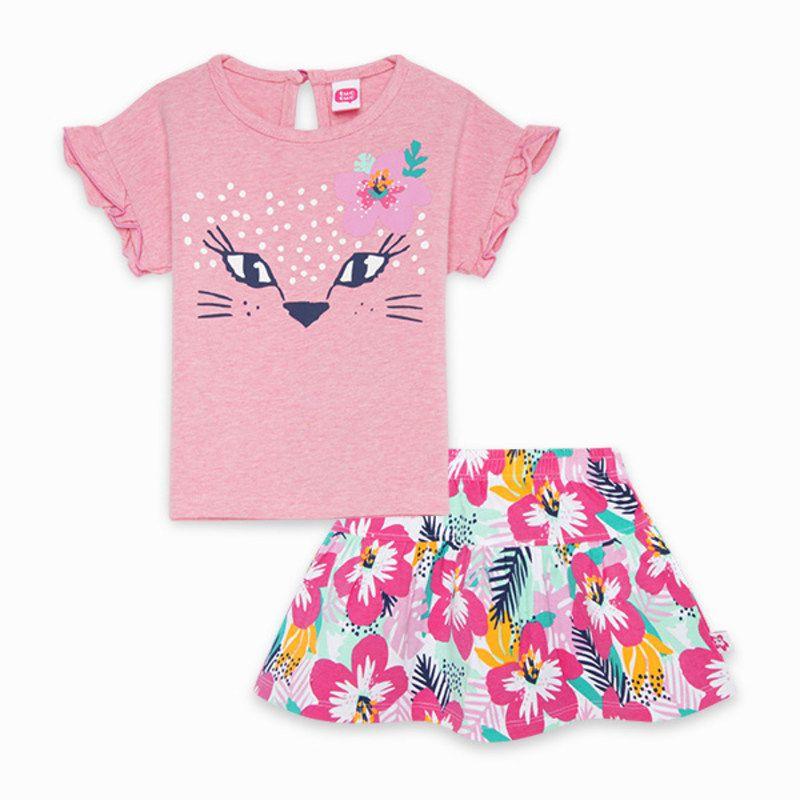 Camiseta y falda punto tuc-tuc