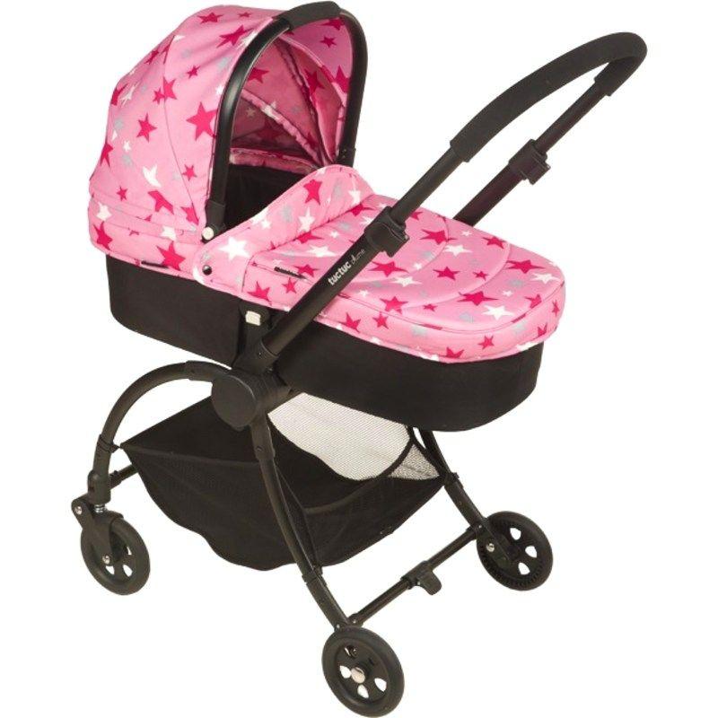 Coche de Bebe plume tuc tuc rosa
