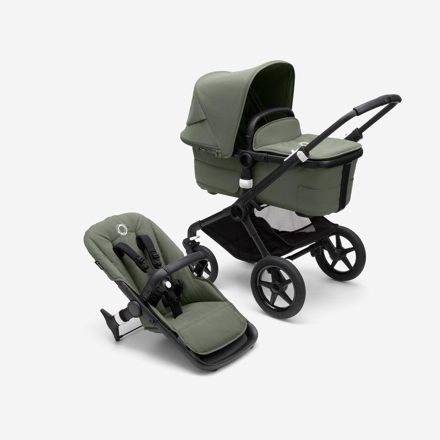 BUGABOO_black-forestgreen-forestgreen-bassinet-and-seat-1