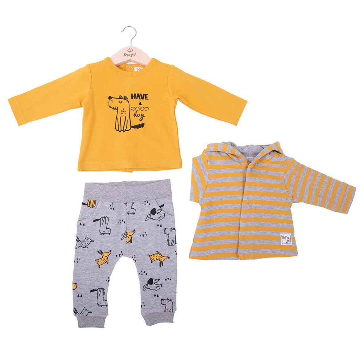 Conjunto algodón bebé tres piezas 21830 babybol